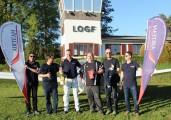 """Flugzeugtaufe 2016 :: Ehrung von Marco, Werner und Wolfgang stellvertretend für alle """"fleißigen Heinzelmännchen"""""""