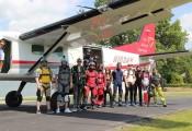 Besuch aus Wr.Neustadt (15.06.2017) :: Die Cessna Caravan fasst deutlich mehr Springer pro Load als unsere Delta Golf Whisky...