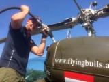Thomas Morgenstern zu Besuch :: Der mehrfache Olympiasieger im Schisprung besuchte im Hubschrauber unseren Flugplatz