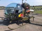 Thomas Morgenstern zu Besuch, 24.Juni 2017 :: Ein echter Hingucker ist die auf Turbine umgebaute Bell 47