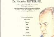 Heinz Petternel verstorben :: 26.Juni 2018