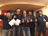 Fallschirm Kurs 2017 :: v.l.n.r.: Kevin, Philipp, Martin, Ferdl, Flo