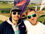 Frischgebackene Fallschirmlehrer :: Florian Richter (li.) und Martin Brüstle, 01.Mai 2017