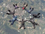 Staatsmeisterschaft Fallschirm 2017 :: Exakte Körperbeherrschung im freien Fall; Foto ©1. OeFC Graz