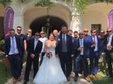Hochzeit Nicole und Güther :: Das frischvermählte Ehepaar Pieber im Kreise der Springerkollegen (19.Mai 2018)