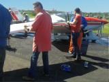 Arbeitseinsatz Motorflugzeuge putzen 2017 :: Die Maschinen werden gewaschen, poliert und nanoversiegelt