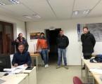 PPL praktische Prüfung 14.03.2021 :: stehend v.l.n.r.: Peter und Florian Richter, Alexander Mandl, Fluglehrer Wolfgang Radl; sitzend: Prüfer Martin Stessl