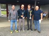 Clubbewerb Streckenflug 2018 :: v.l.n.r.: Olaf Auner, Wolfgang Glatz (2.), Daniel Lampel (1.), Sektionsleiter Werner Schnalzer