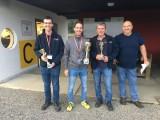 Ziellandewettbewerb 2018 :: v.l.n.r.: Christoph Koch (2.), Olaf Auner (1.), Werner Fenz (3.), Sektionsleiter Werner Schnalzer